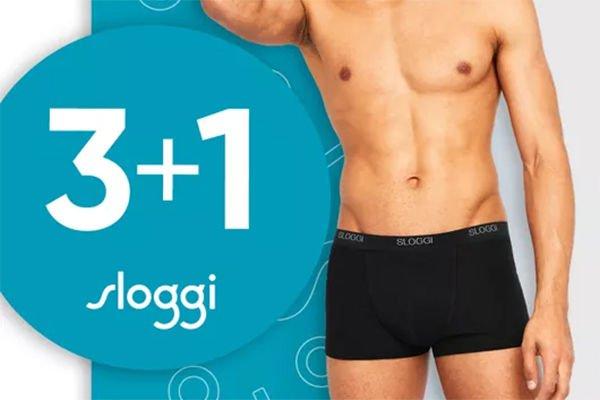 Sloggi actie: 3+1 gratis