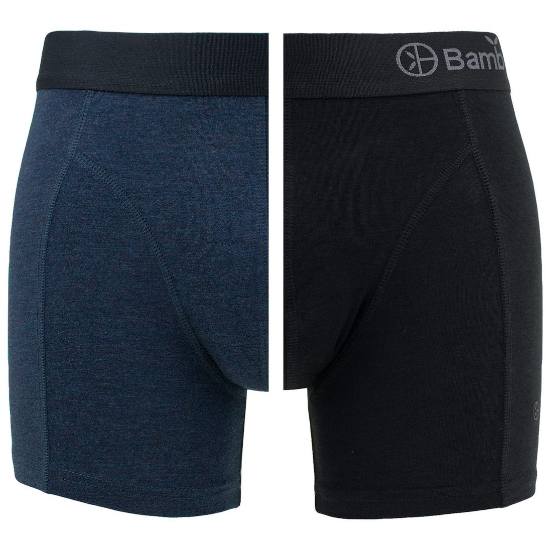 Afbeelding van Bamboo Basics boxers levi 2 pack blauw & zwart heren