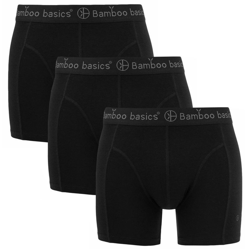 Afbeelding van Bamboo Basics boxers rico 3 pack zwart heren