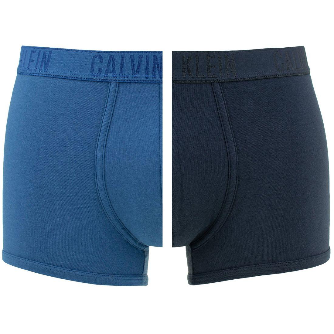 Afbeelding van Calvin Klein 2 pack trunks hague downpour blauw heren