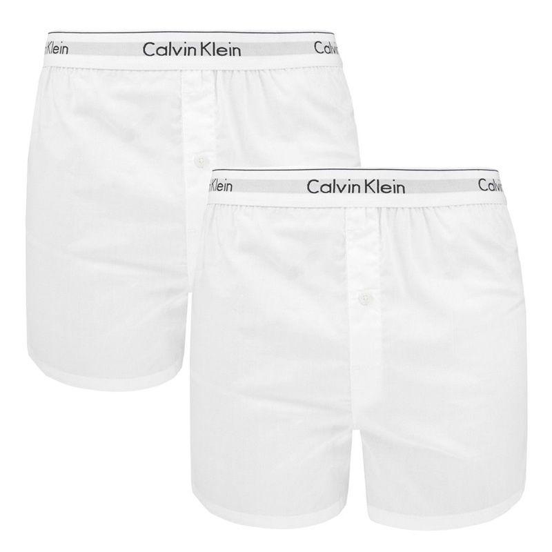 Afbeelding van Calvin Klein 2 pack slim fit boxer wit heren