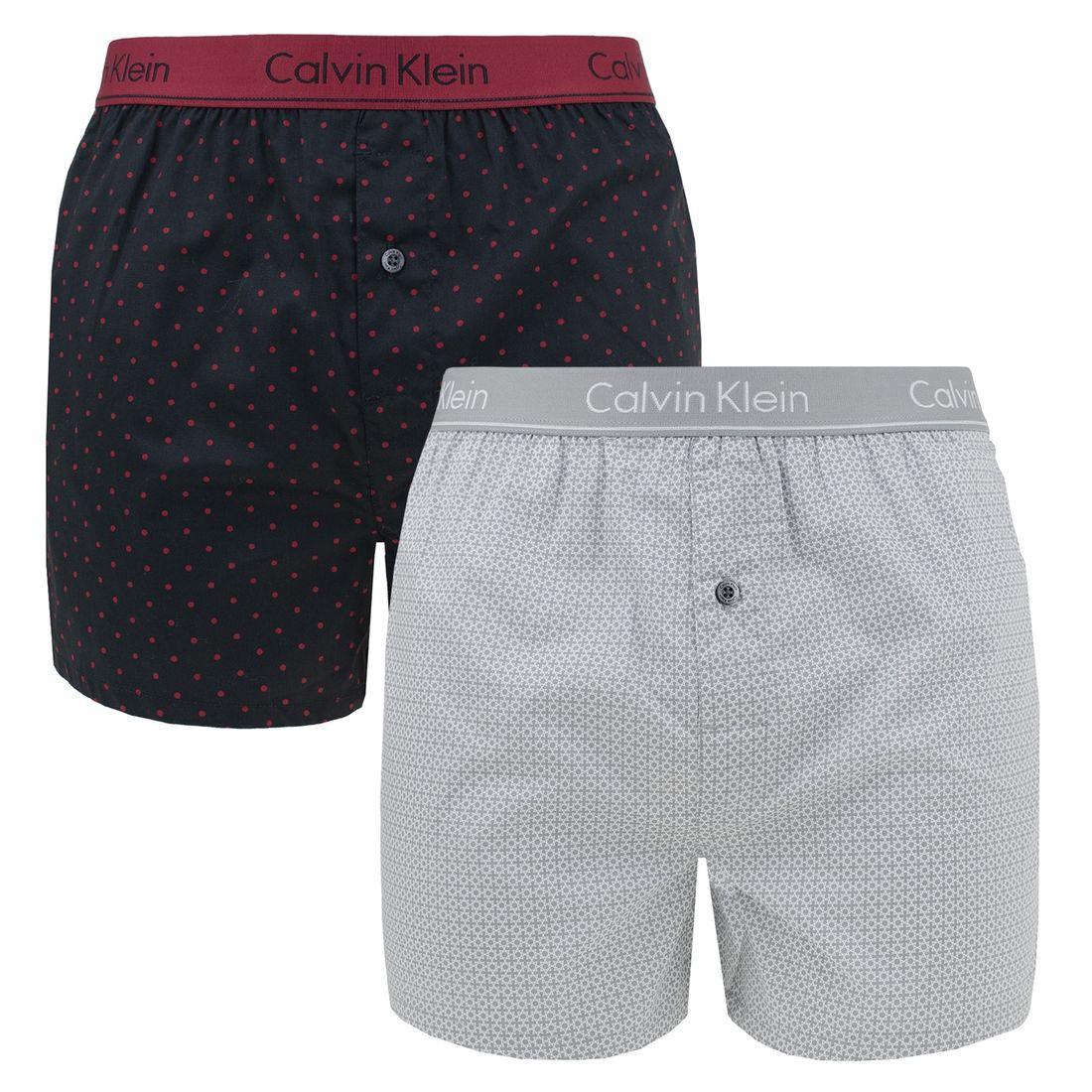 Afbeelding van Calvin Klein 2 pack slim fit boxer dots & plus heren