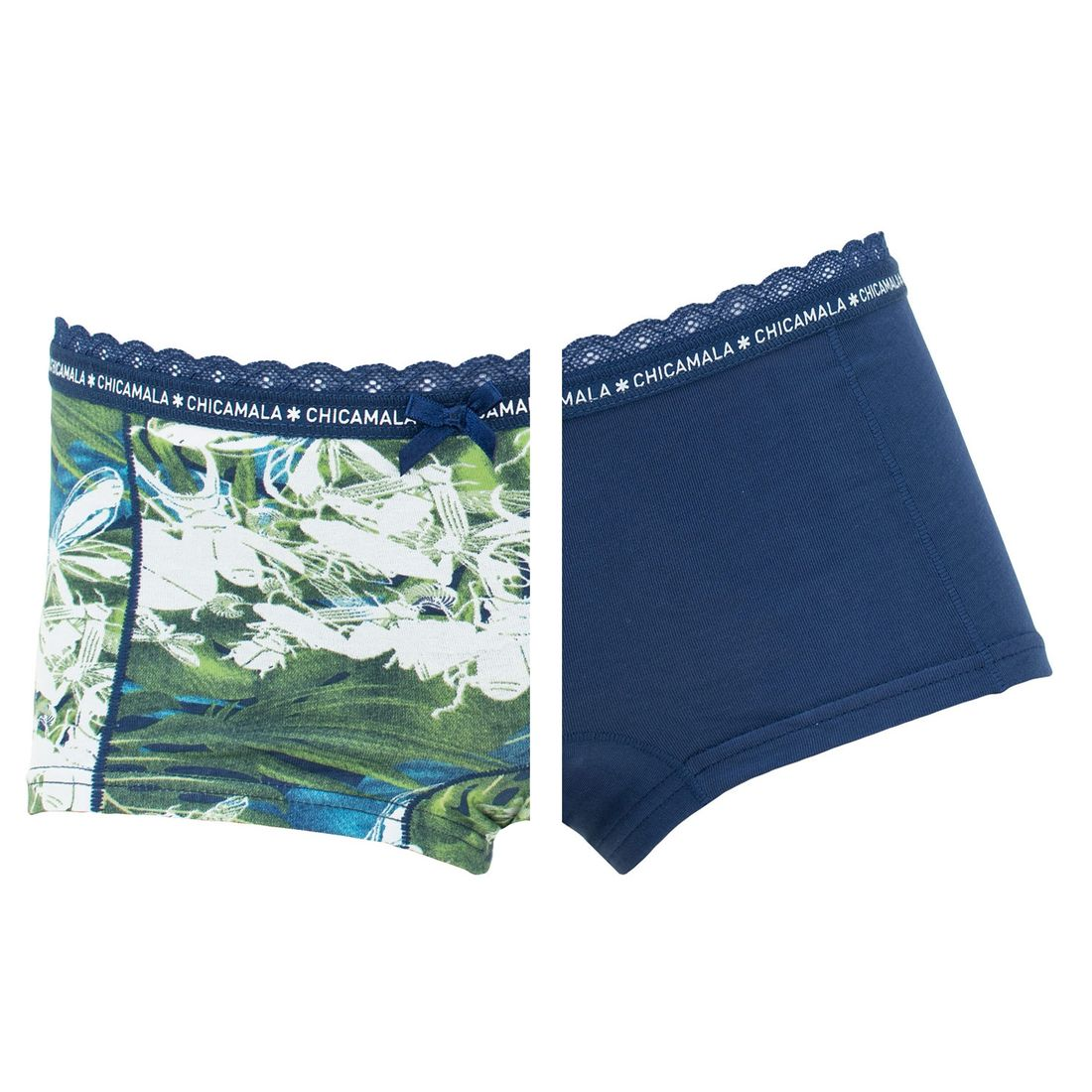 Afbeelding van Sale: Chicamala boxers meisjes kant 2 pack buggin around
