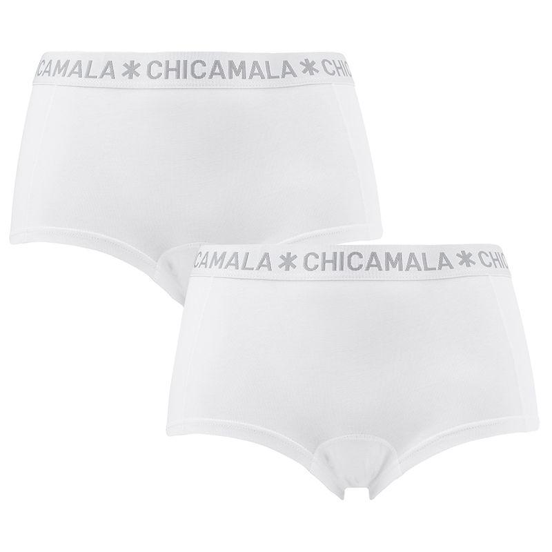 Afbeelding van Chicamala boxers dames basic 2 pack wit