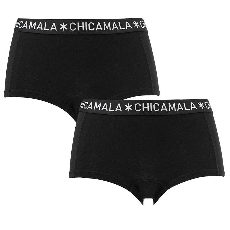 Afbeelding van Chicamala boxers dames basic 2 pack zwart