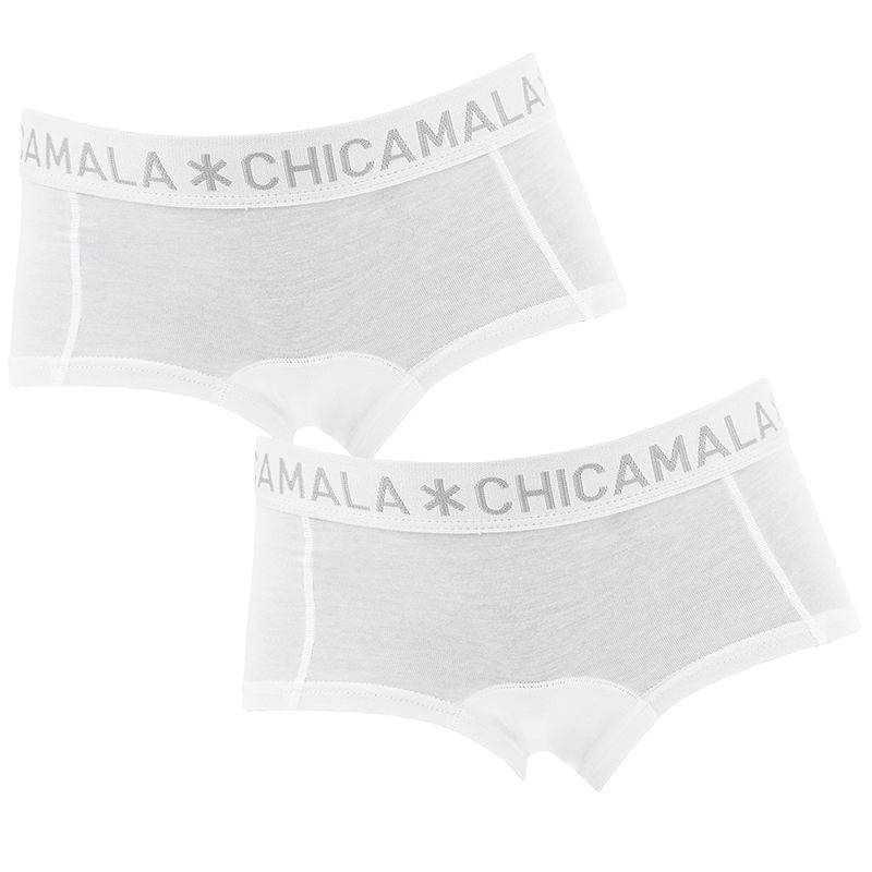Afbeelding van Chicamala boxers meisjes basic 2 pack wit