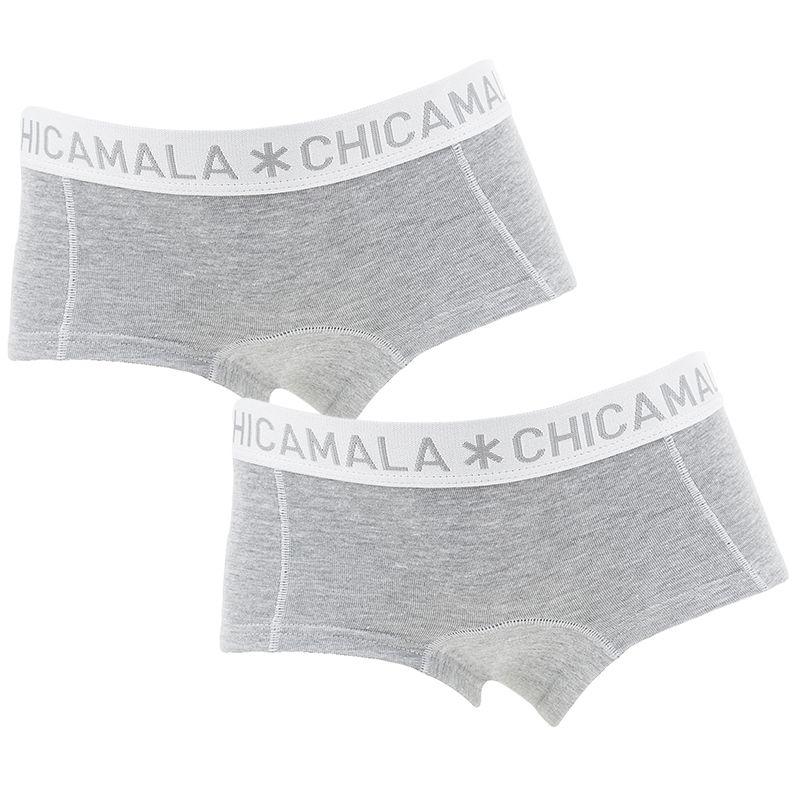 Afbeelding van Chicamala boxers meisjes basic 2 pack grijs