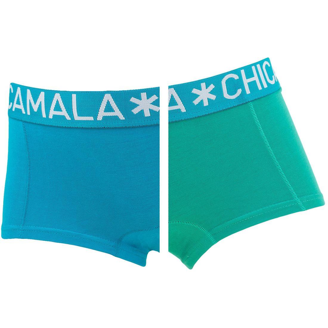 Afbeelding van Chicamala boxers meisjes 2 pack blauw & groen