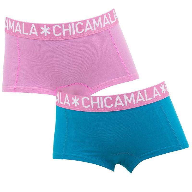 Afbeelding van Chicamala boxers meisjes 2 pack roze & blauw