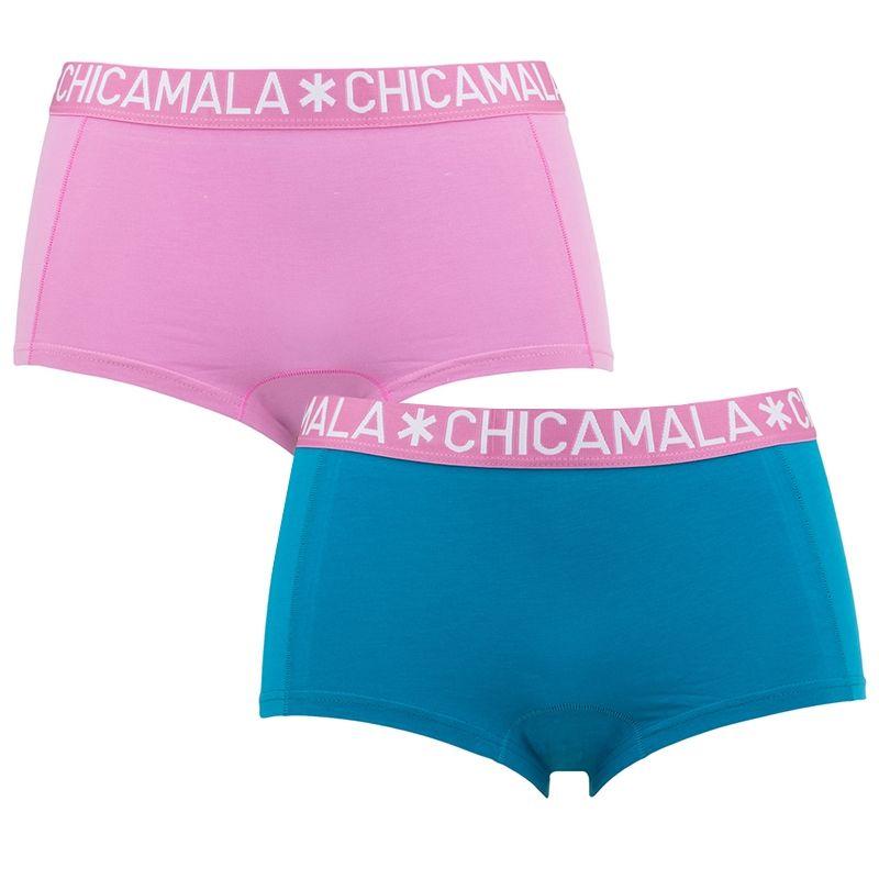 Afbeelding van Chicamala boxers dames 2 pack roze & blauw