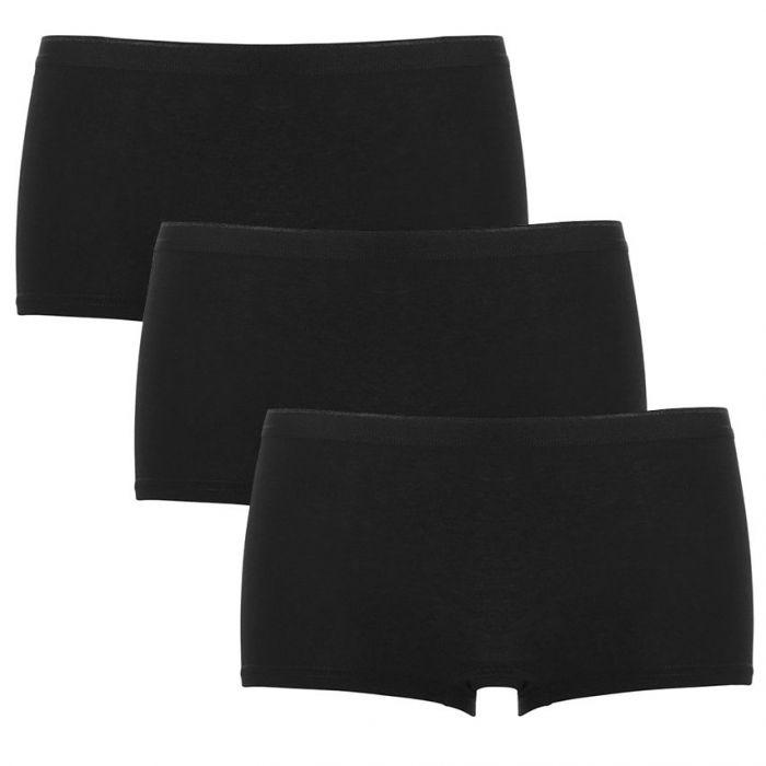 ten cate dames basic shorts 3-pack zwart