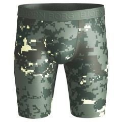 performance microfiber long boxer digital woodland groen