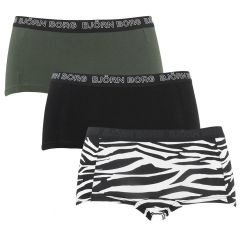 dames mini shorts 3-pack zebra multi