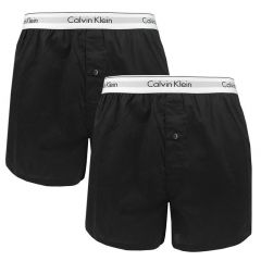 2-pack woven slim fit boxers zwart II