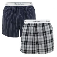 2-pack woven slim fit boxers stripe & plaid