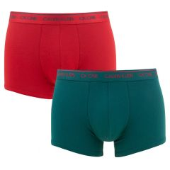 2-pack trunks ck one blauw & rood