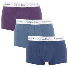 3-pack lowrise trunks blauw & paars