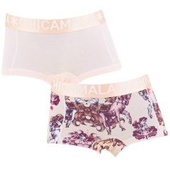 meisjes 2-pack shorts horsi roze