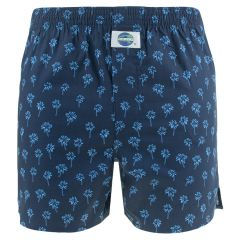 boxershort palme blauw