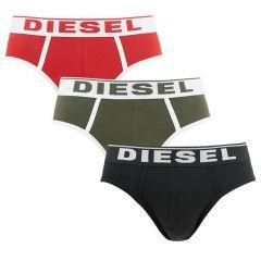 andre herenslips 3-pack rood / groen / zwart