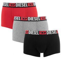 damien 3-pack initial D logo zwart / grijs / rood