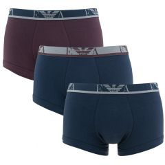 stretch eagle trunk 3-pack blauw & rood
