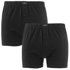 2-pack wijde boxers zwart