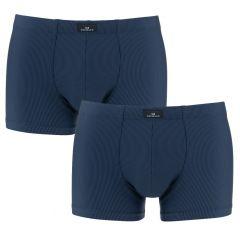 2-pack microfiber boxers gestreept blauw II