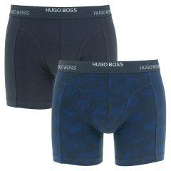 2-pack boxers print blauw VI