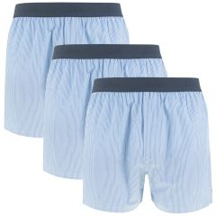woven boxers 3-pack blauw & wit