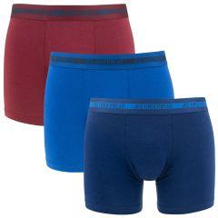bamboe 3-pack blauw & rood