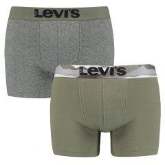 printed waistband 2-pack groen & grijs