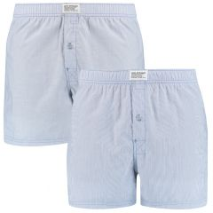 basic woven boxers 2-pack blauw