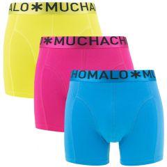 3-pack geel / blauw / roze