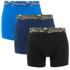 3-pack blauw & zwart