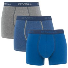 boxers 3-pack plain blauw & grijs