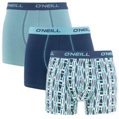 boxers 3-pack combi akaw blauw
