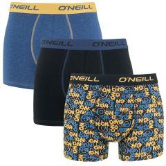 boxers 3-pack criss cross & plain blauw