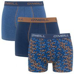 boxers 3-pack mini logo & plain blauw