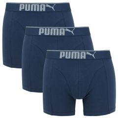 premium sueded cotton boxer 3-pack blauw