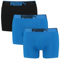 premium sueded cotton boxers 3-pack blauw & zwart