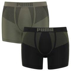 seamless active boxers 2-pack groen & zwart