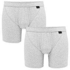 cotton essentials grijs 2-pack