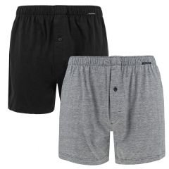 single jersey 2-pack zwart & grijs