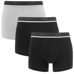 95/5 3-pack classic shorts grijs & zwart