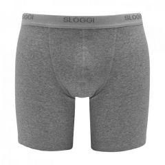 basic long boxer grijs