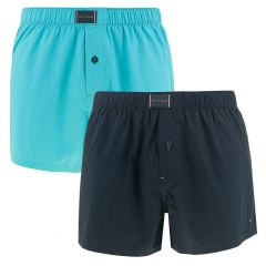 woven boxers 2-pack blauw