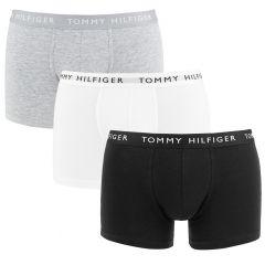 3-pack trunks basic logotaille zwart, wit, grijs