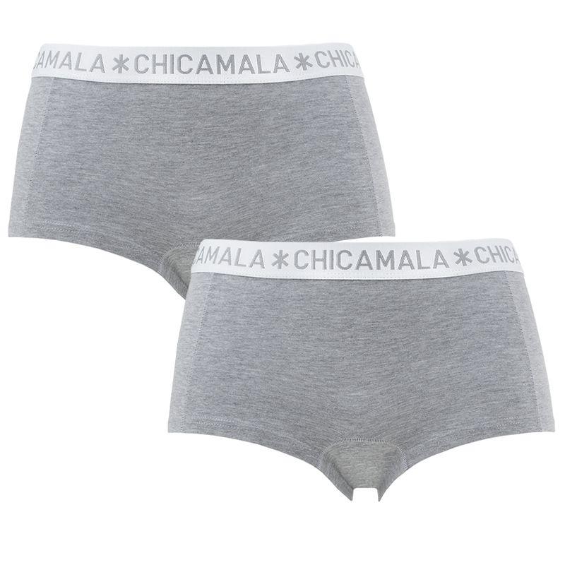 Afbeelding van Chicamala boxers dames basic 2 pack grijs